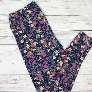 LuLaRoe Tall & Curvy Floral Print Leggings